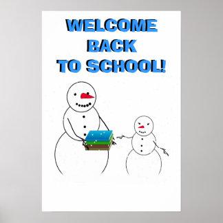 Dê boas-vindas ao estudante de volta ao poster da