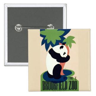 """De """"botão do jardim zoológico Brookfield"""" do vinta Bóton Quadrado 5.08cm"""