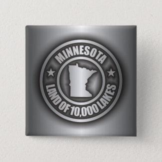 """De """"botões do aço Minnesota"""" Bóton Quadrado 5.08cm"""