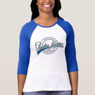 De camisa do basebol da luva das mulheres de ESDK