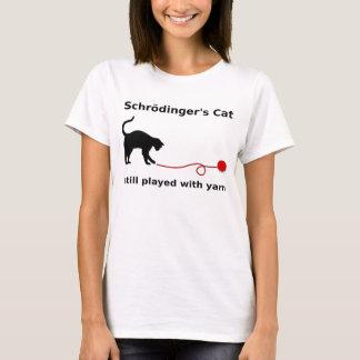 """De """"camisa do gato Schrödinger"""" (luz) Camiseta"""