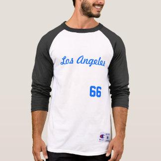 DE CAMISA DO RAGLAN DOS HOMENS DE LOS ANGELES #66