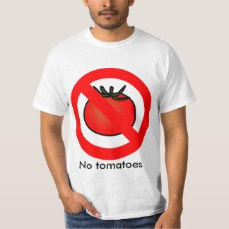 "De ""camisa nenhuns tomates"" camiseta"