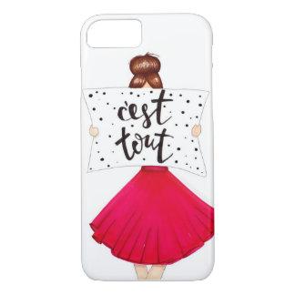 """De """"capas de iphone tous da menina da forma C'est"""" Capa iPhone 7"""