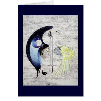"""De """"cartão da arte Yin e de Yang"""" Cartão Comemorativo"""