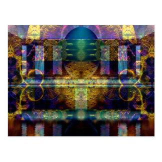 """De """"cartão das belas artes do santuário Orphic"""" Cartão Postal"""