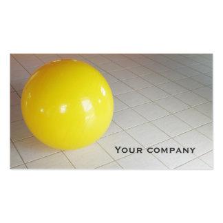 """De """"cartão de visita da dobro-cara da bola Pilates"""
