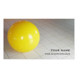 De cartão de visita da dobro-cara da bola Pilates