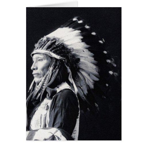 """De """"cartão do líder Sioux"""""""