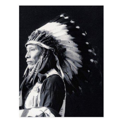 """De """"cartão do líder Sioux"""" Cartoes Postais"""