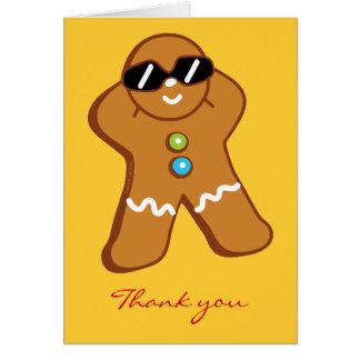 """De """"cartões de agradecimentos do homem de pão-de-e cartão de nota"""