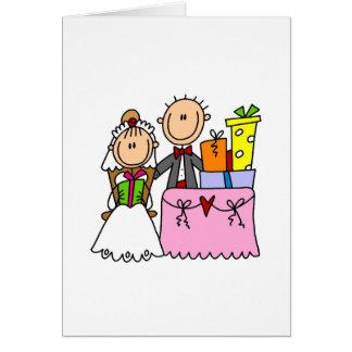 De casamento dos presentes cartão abundante