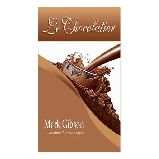 "De ""chocolates do gourmet Le Chocolatier"" -, doces Modelos Cartao De Visita"