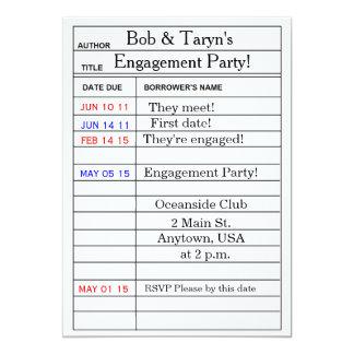 """De """"convites da festa de noivado do cartão"""