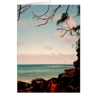 """De """"da praia preta da rocha Maui coleção"""" Cartão Comemorativo"""