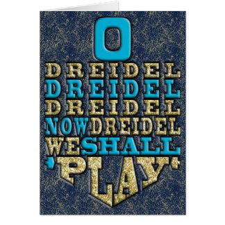 """De """"envelope de w do cartão O Dreidel"""" Hanukkah"""