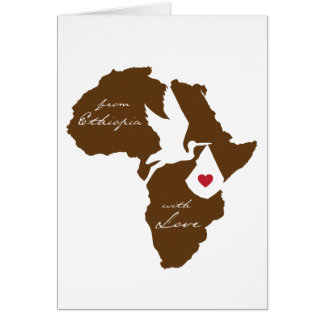 De Etiópia com anúncios da adopção do amor
