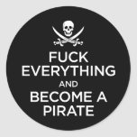*** de f tudo e transformado um pirata adesivo em formato redondo