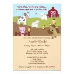 De fazenda acres animais do chá de fraldas AAK Convite Personalizado