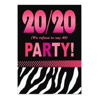 De festa de aniversário fabulosa da zebra de convite 12.7 x 17.78cm