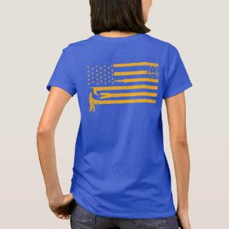 De Fire/EMS da bandeira da camisa ouro afligido