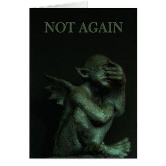 De Gargoyle~not cartão de aniversário outra vez