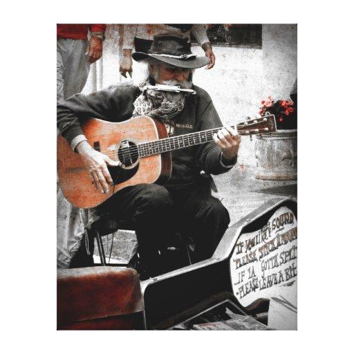 """De """"homem da música NOLA"""" em efeitos vermelhos do  Impressão Em Tela Canvas"""