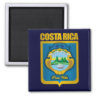 """De """"ideias do presente do ouro Costa Rica"""" Ímã Quadrado"""
