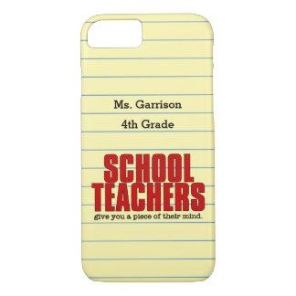 Dê-lhe uma parte de seu professor primário da capa iPhone 7
