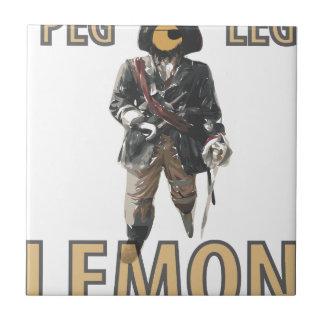 """De """"limão do pé Peg"""" do pirata"""