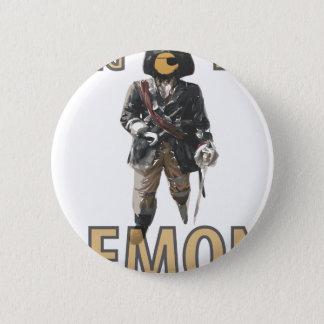 """De """"limão do pé Peg"""" do pirata Bóton Redondo 5.08cm"""