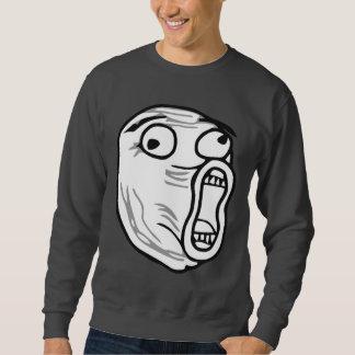 De LOL do riso cara alta Meme da raiva para fora Suéter