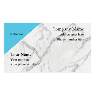 De mármore limpe cartões de visitas do olhar