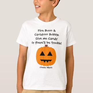 Dê-me doces - miúdos camisa do Dia das Bruxas T
