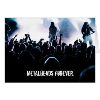 De Metalheads cartão de aniversário do metal