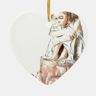 de meu espírito eu pertenço ornamento de cerâmica coração