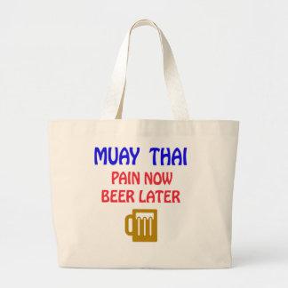 De Muay da dor cerveja tailandesa agora mais tarde Sacola Tote Jumbo
