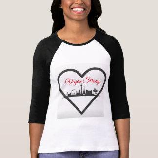De mulher do Raglan de Vegas Stong a camisa de 3/4