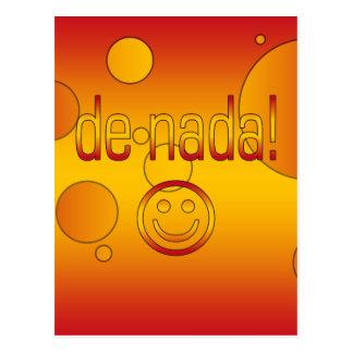 De Nada! A bandeira da espanha colore o pop art Cartão Postal