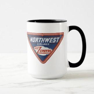 """De Northwest Airlines do """"céu dos Zephyrs"""" caneca"""