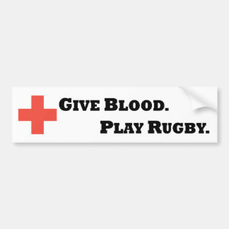 Dê o sangue. Jogue o rugby Adesivo Para Carro