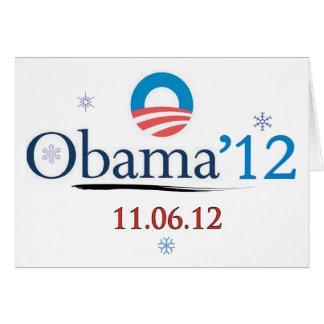 De Obama cartão 2012 de Natal