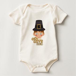 Dê obrigados body para bebê