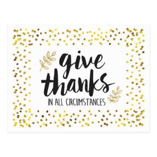 Dê obrigados no cartão de AllCircumstances