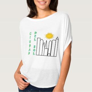 """De """"parte superior de fluxo Ciudad del Solenóide"""" Camiseta"""