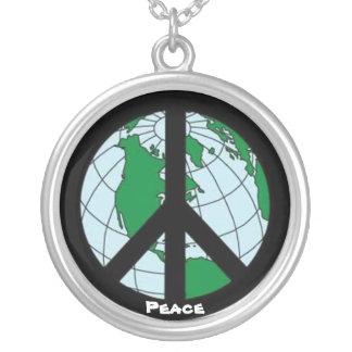 """De """"paz mundo """" colares personalizados"""