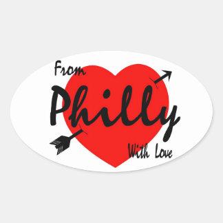 De Philly com amor Adesivo Oval