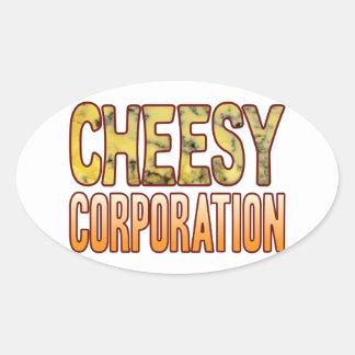De queijo azul do corporaçõ adesivo oval