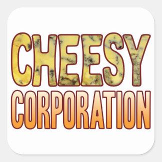 De queijo azul do corporaçõ adesivo quadrado