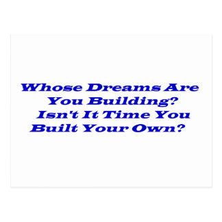 De quem sonhos?  Cartão